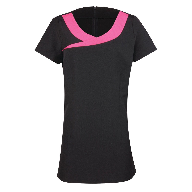 Beauty Spa Tunic  (Black / Hot Pink)