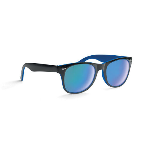 Black and blue mirror lens sunglasses