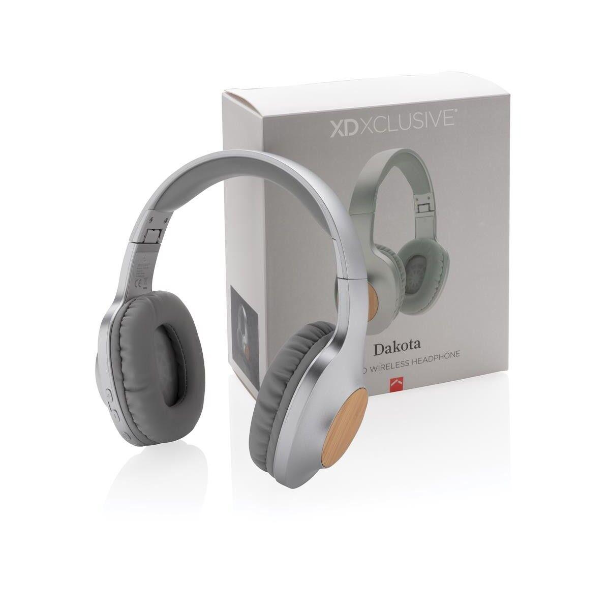 California Bamboo Wireless Headphones with gift box packaging