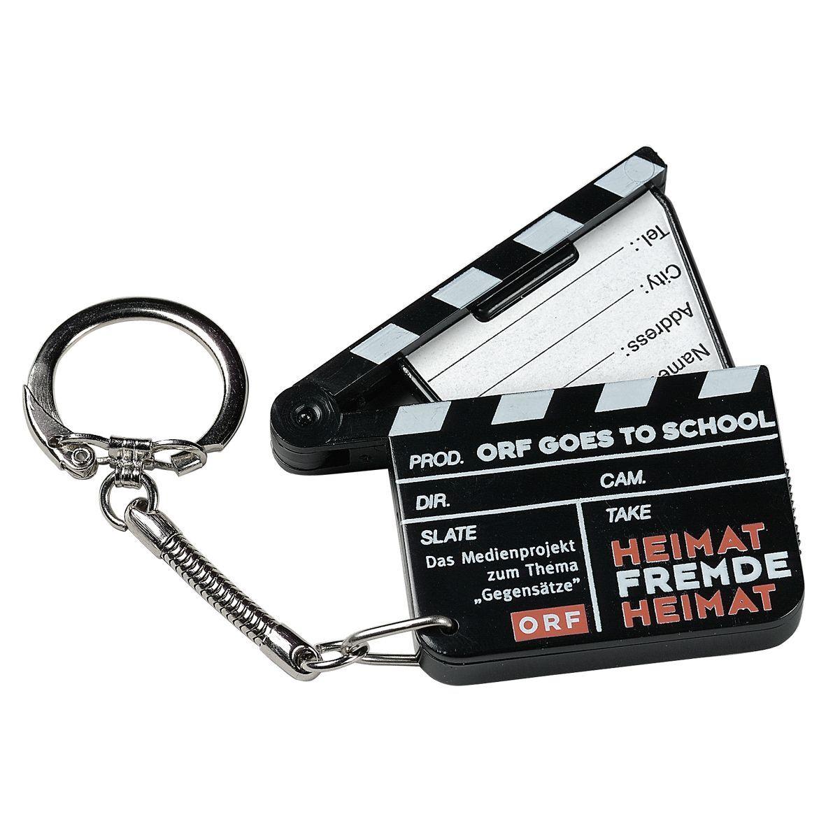 Clapper Board Address Label Keyring