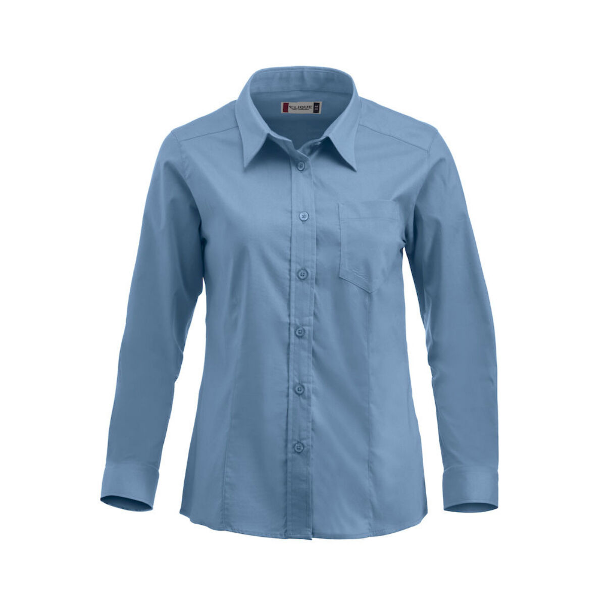Clique Long Sleeved Shirt ( Ladies' Light Blue)