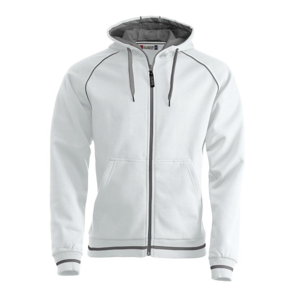 Clique Zipped Hoodie (White)