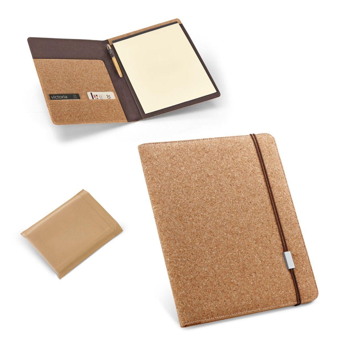A4 Cork Folder & Notepad
