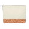 Cotton & Cork Cosmetic Bag White