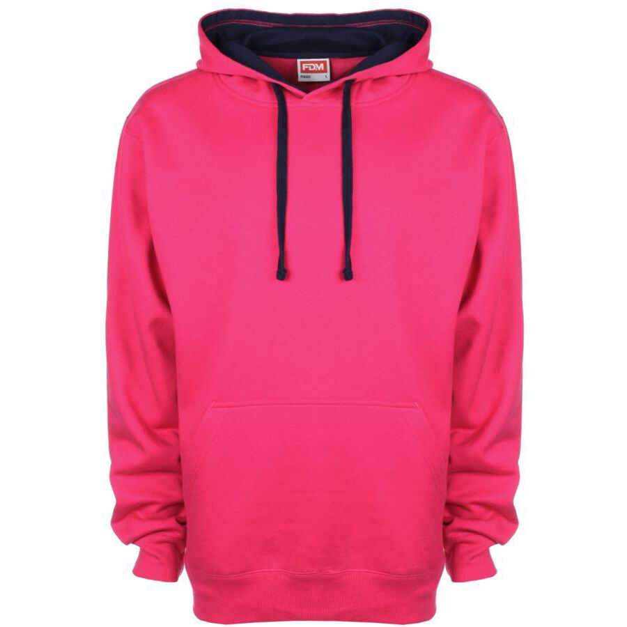 SG Men's Contrast Hoodie (Pink)