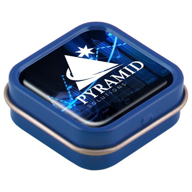 Domed Mint Tin (Blue)