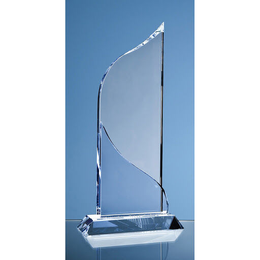 28cm Crystal Flat Mounted Award