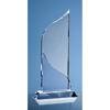 28cm Crystal Flat Mounted Award