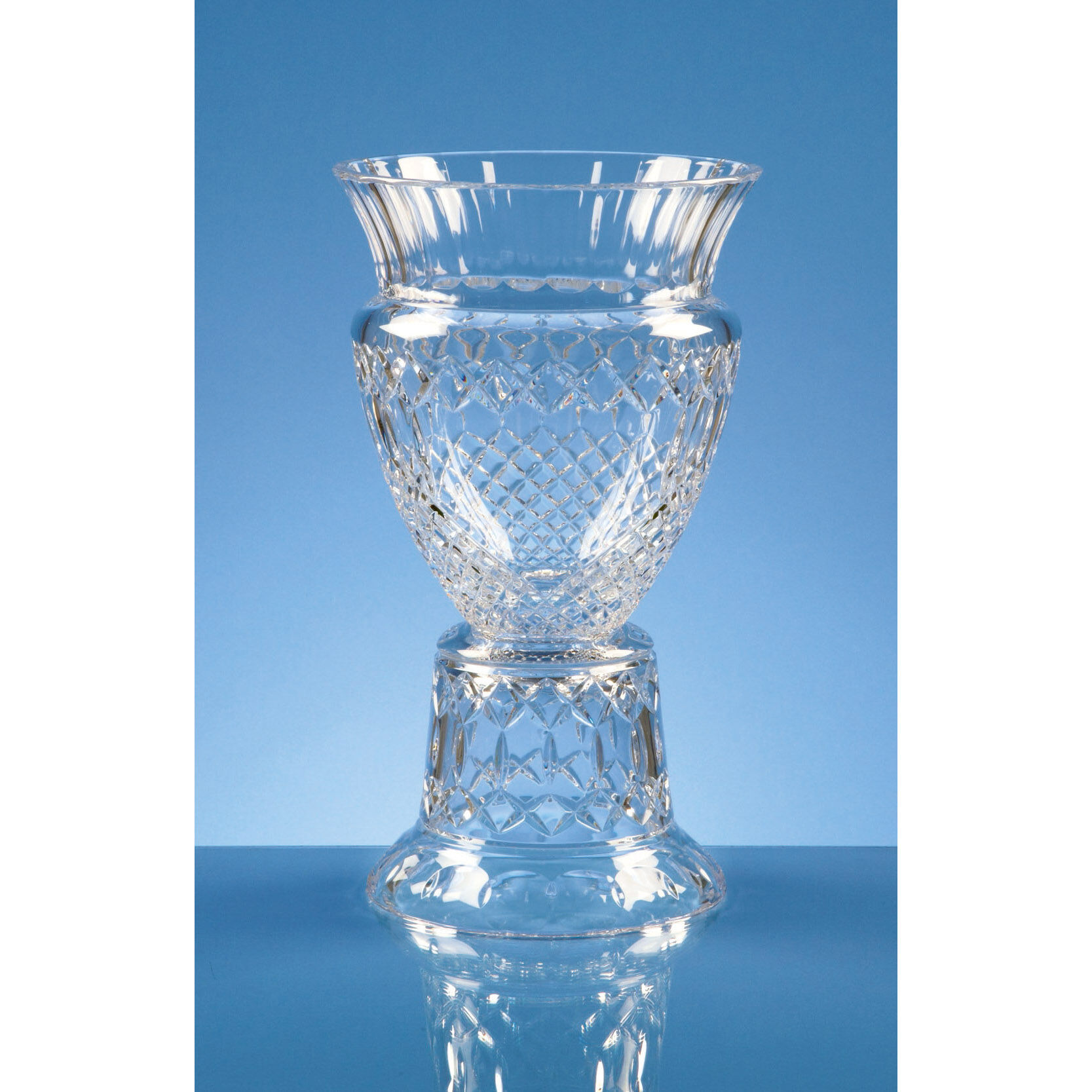 33cm Lead Crystal Footed Trophy Vase