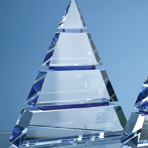 22.5cm Optical Crystal Pyramid Award