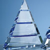 22.5cm Optical Crystal Pyramid Award