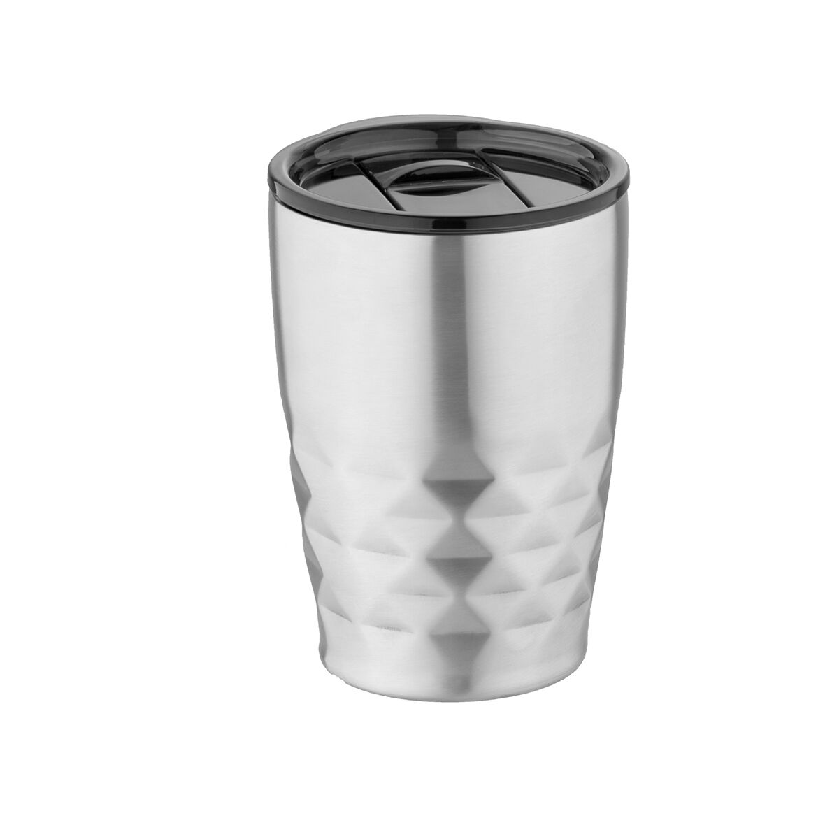 Geo thermal insulated tumbler, silver