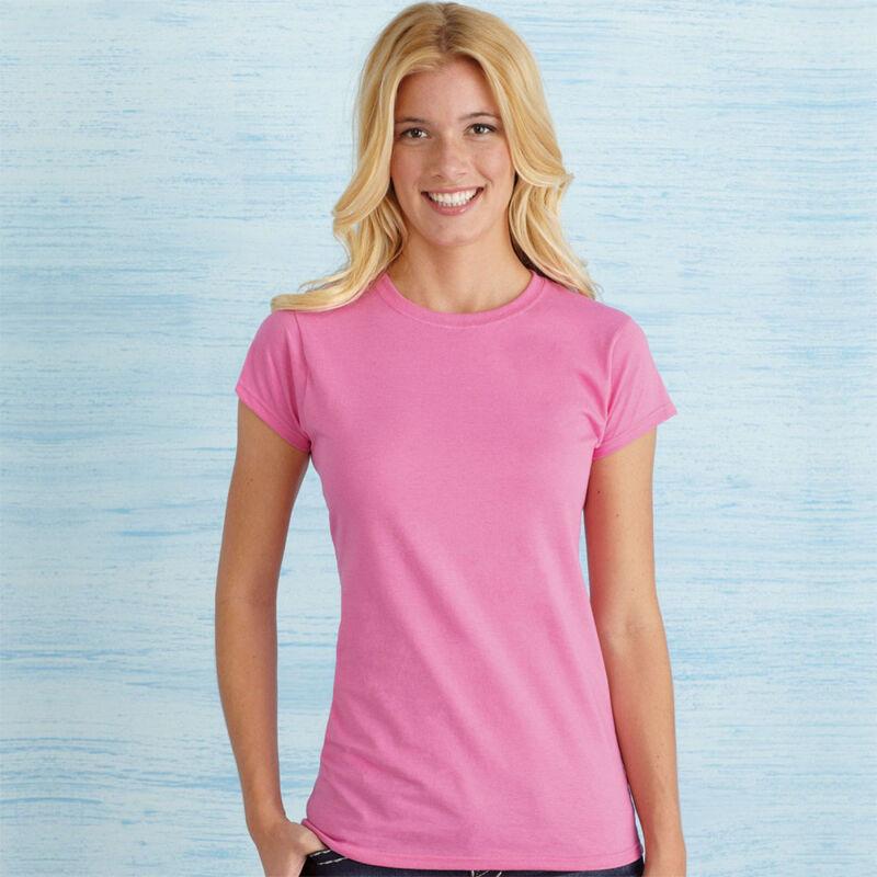 Gildan Ladies' Soft Style T-Shirt - Pink