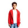 Neutral Brand Red Organic Kids Hoodie with Zip
