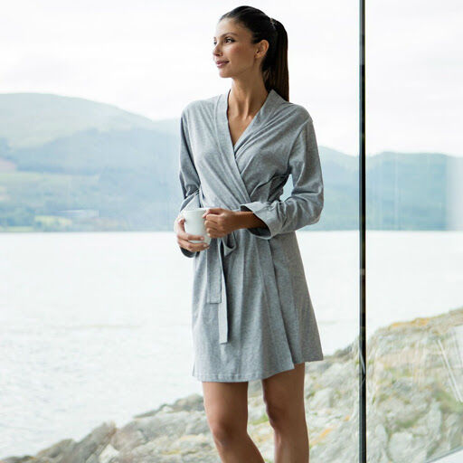 Women's Hotel Wrap Robe (Grey)