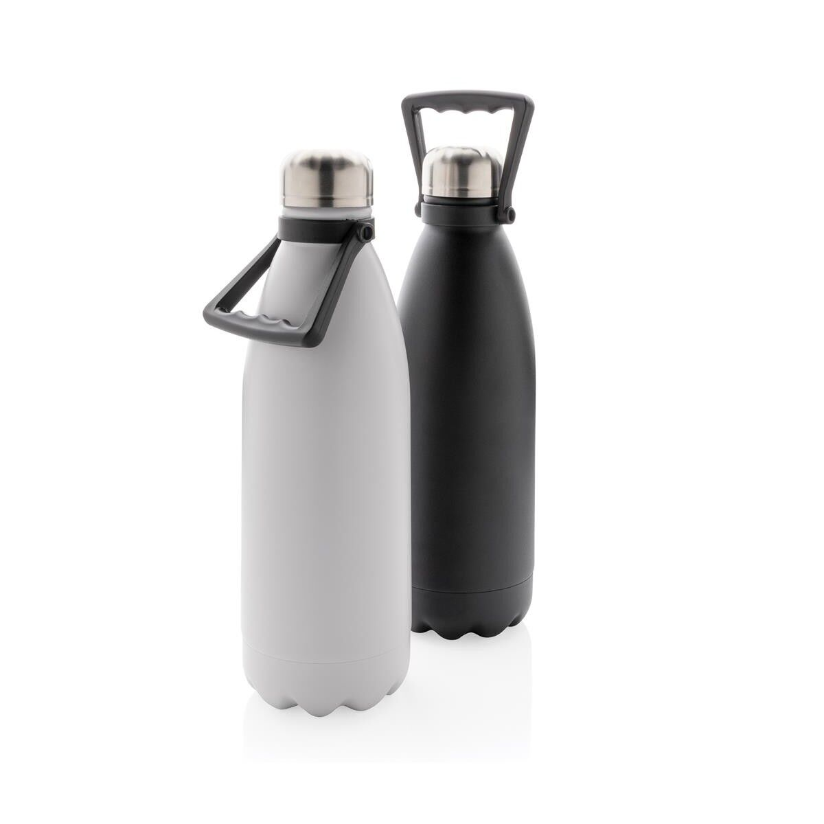 Large Stainless Steel Bottle - White