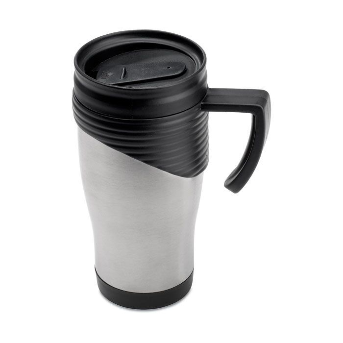 Large Thermal Coffee Mugs With Lids Black
