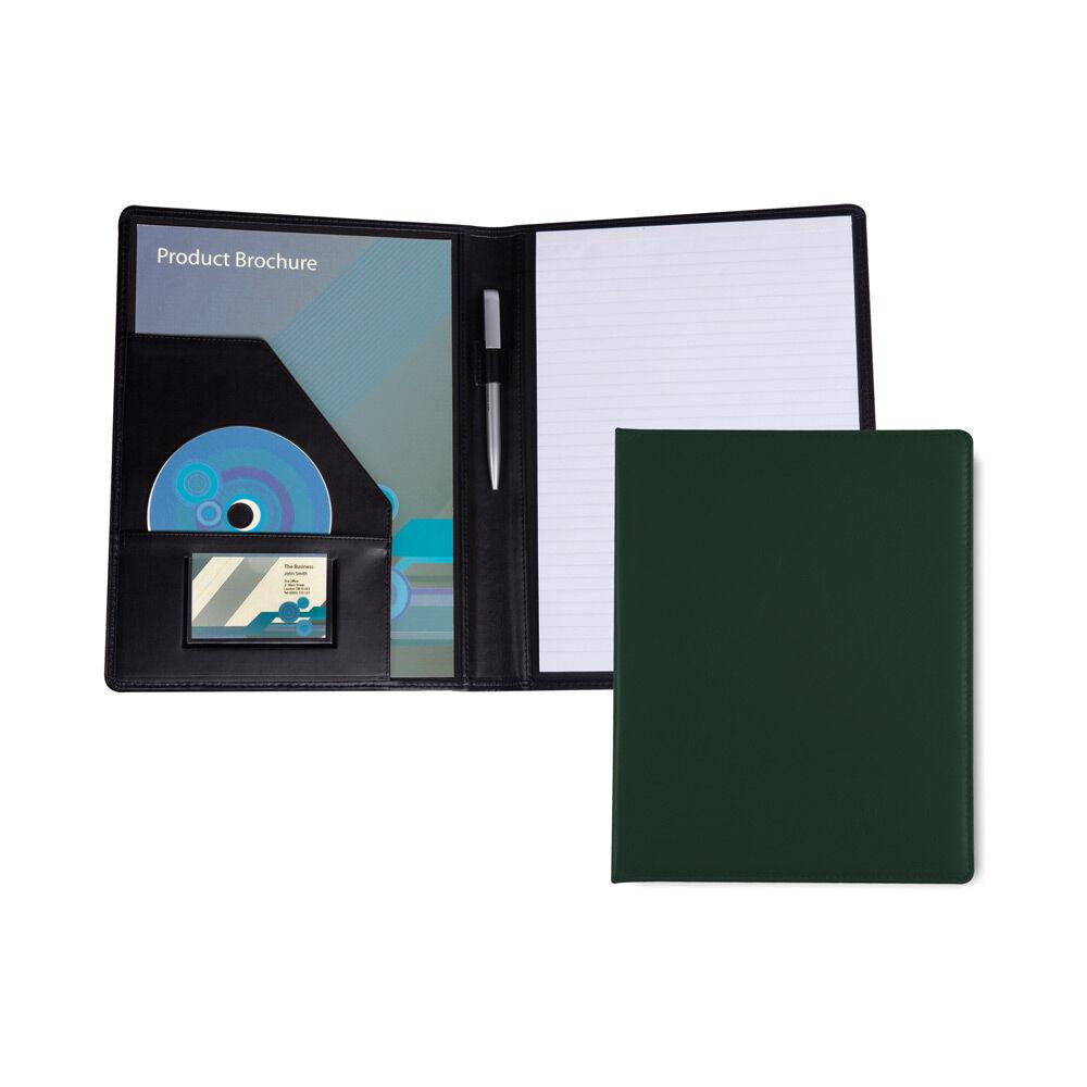 Leather Conference Folder for Branding - Green