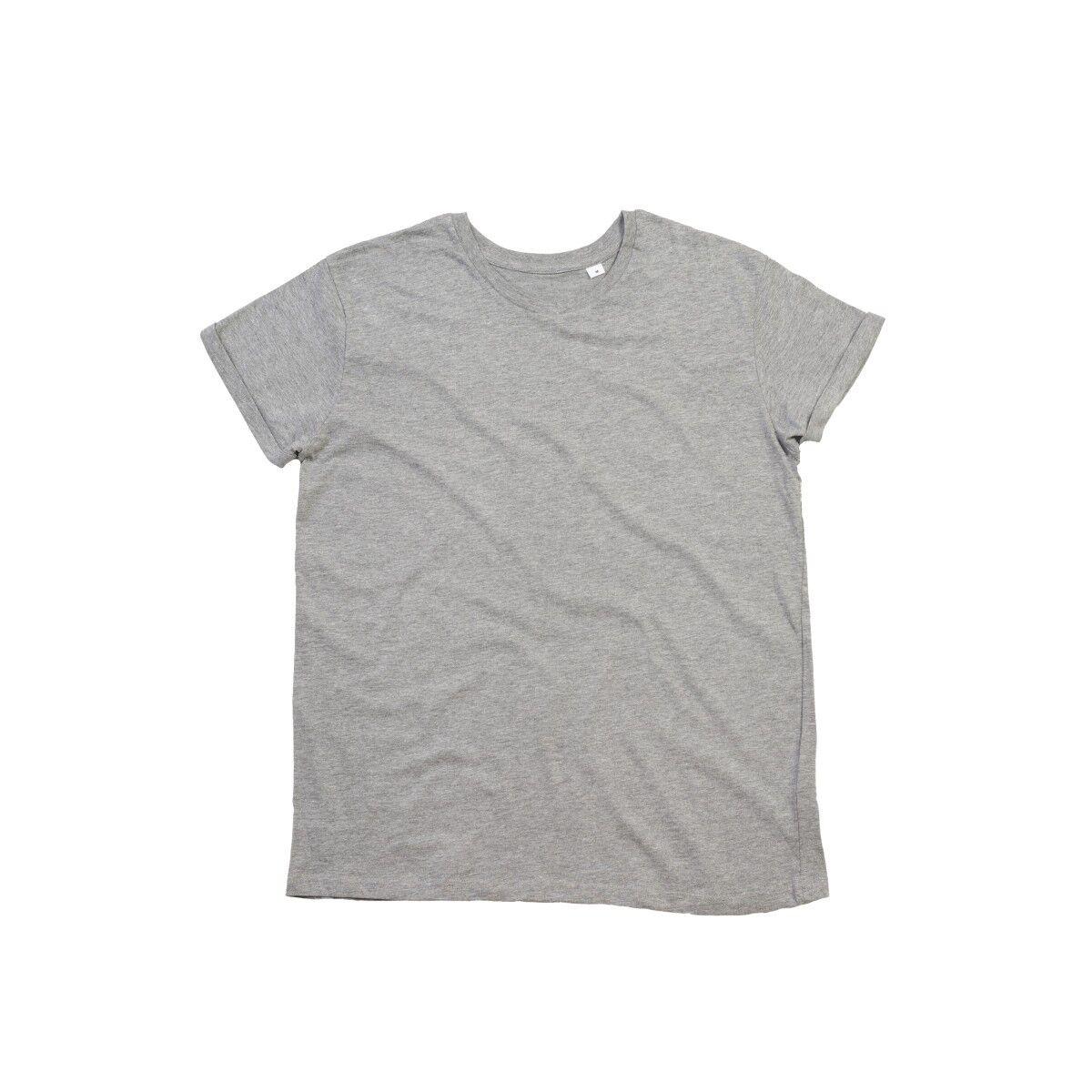 Mantis Roll Sleeve T Shirt - Heather Grey