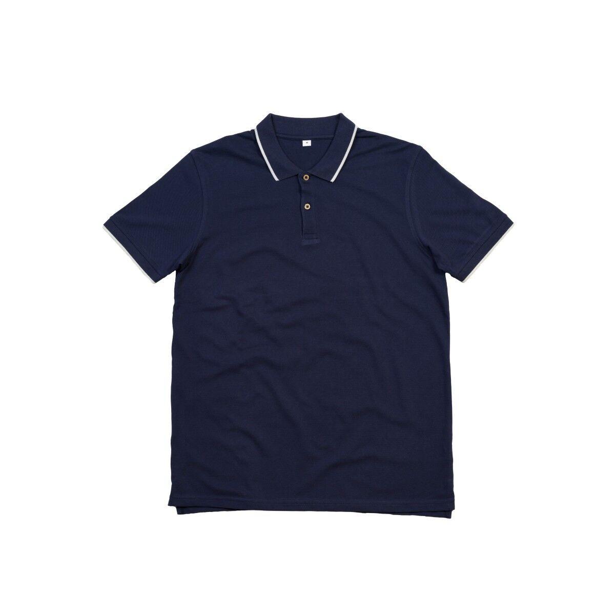 Mantis Tipped Polo Shirt - Navy & White