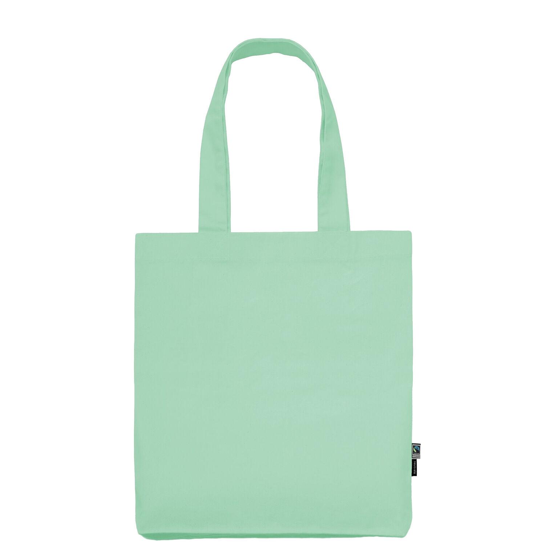 Neutral Brand Organic Twill Tote Bag in mint green