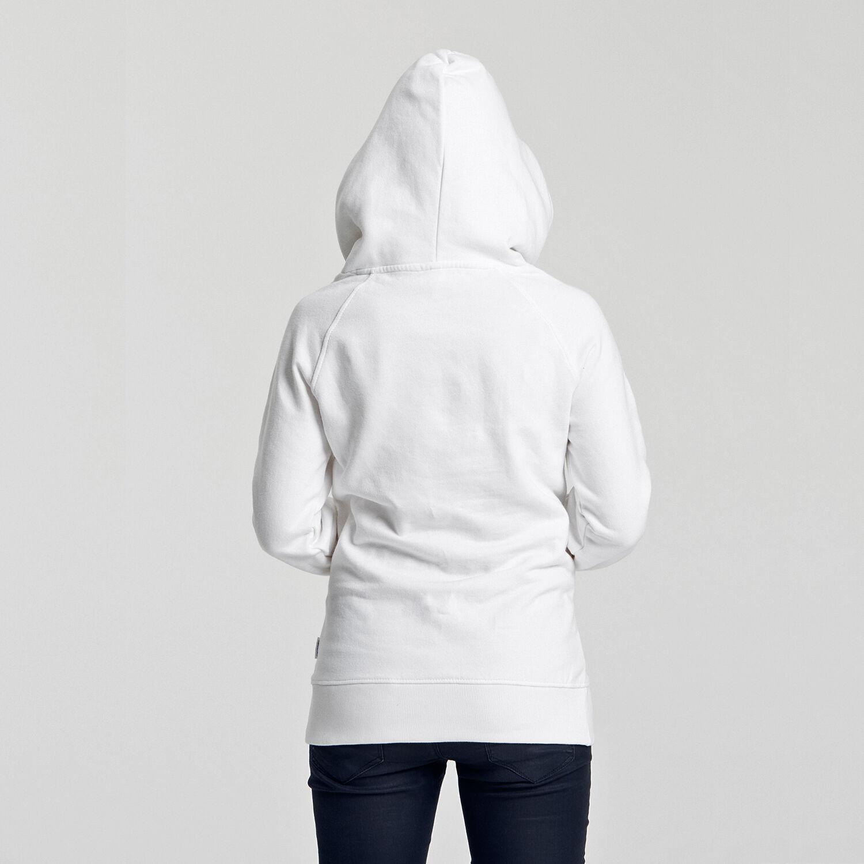 Neutral Ladies Hoodie White Back
