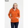 Neutral Ladies Zipped Hoodie Orange