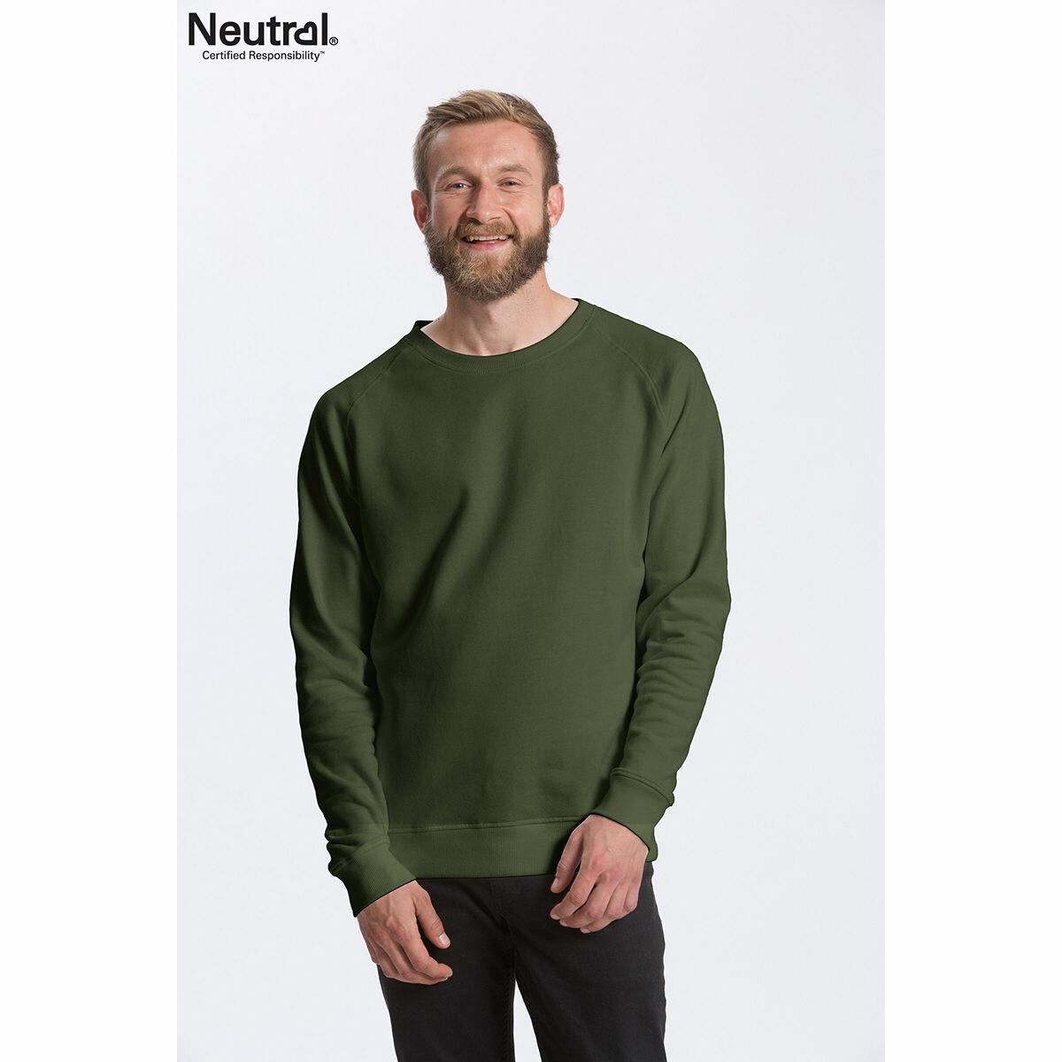 Neutral Organic Unisex Sweatshirt Green
