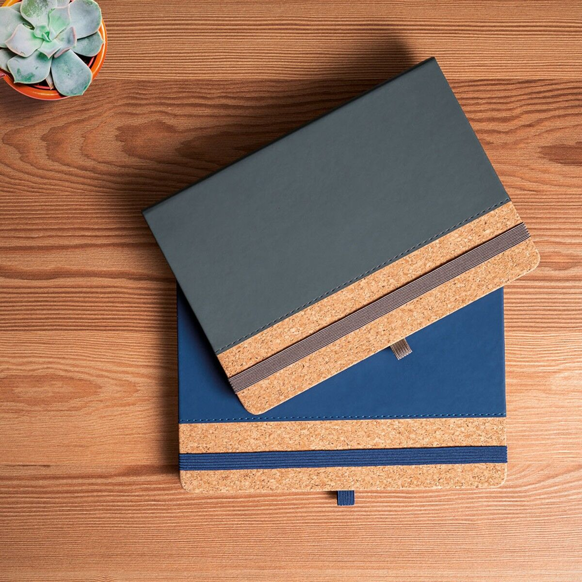 A5 Notebook with PU and Cork Cover colours