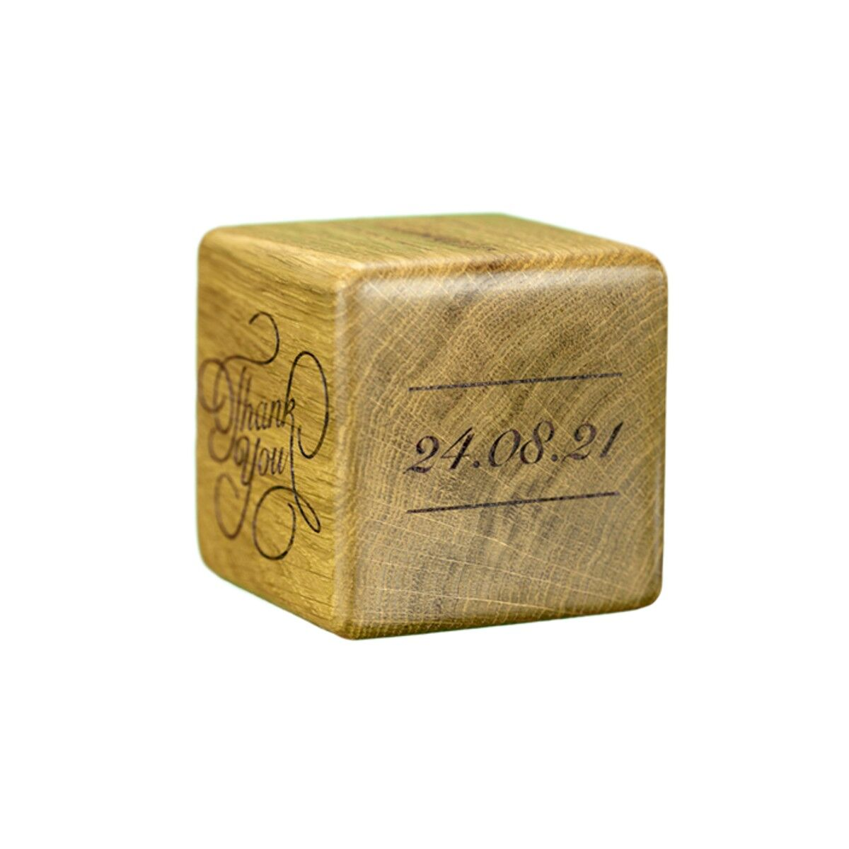 Wooden Message Cube