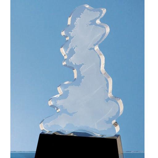 Optical Crystal UK Map Award