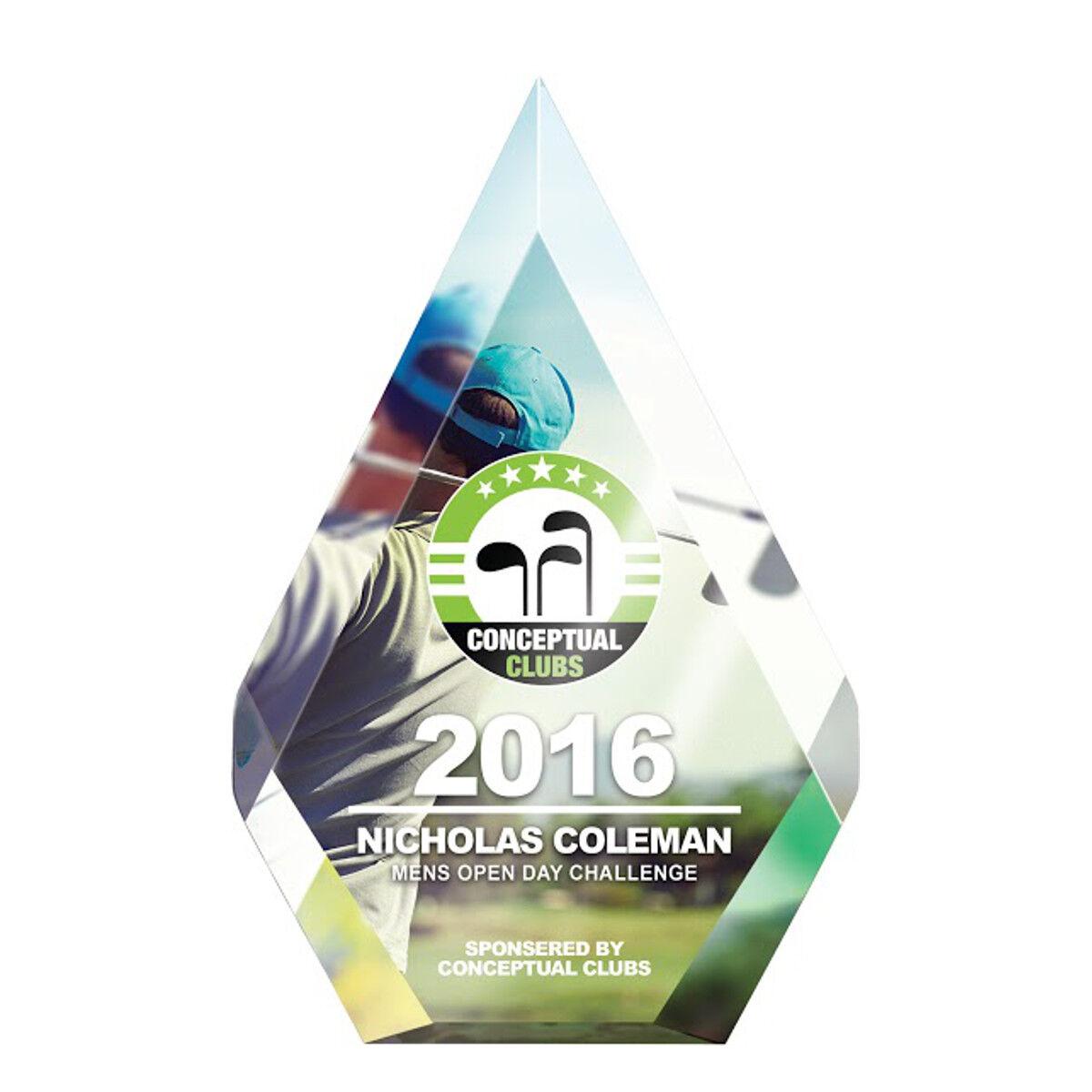 Pentagonal Shaped Acrylic Award