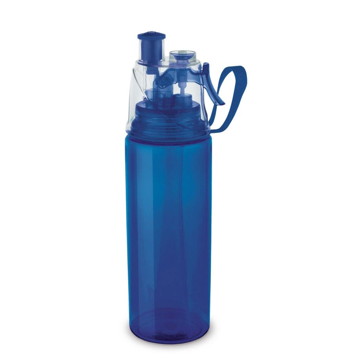 Push-Pull Sports Bottle with Vaporizer  in Blue