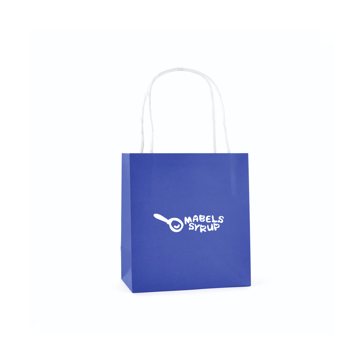 Twist Handle Paper Bags Small Size in Blue