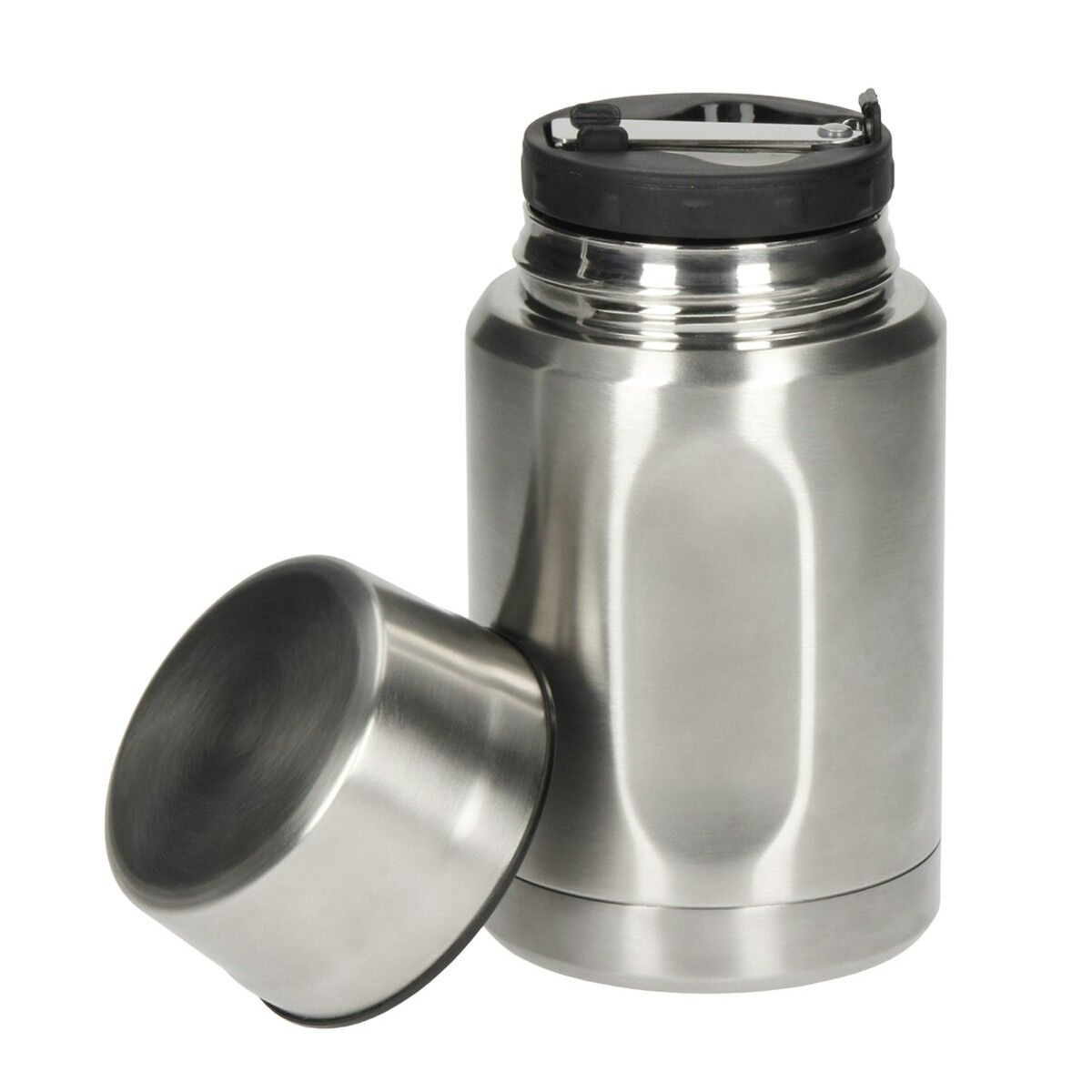 Silver Stainless Steel Soup Flask
