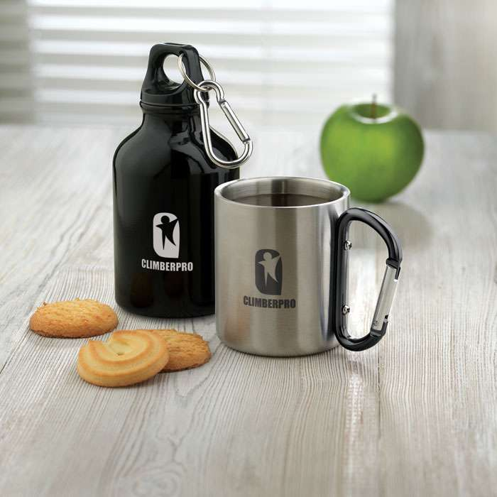 Steel Mug with Carabiner