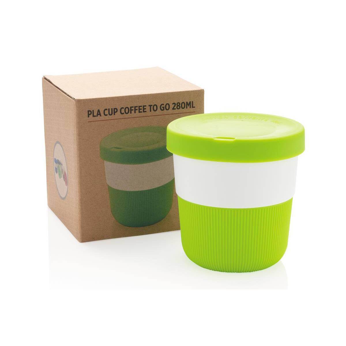 Sustainable PLA Coffee Cup Green