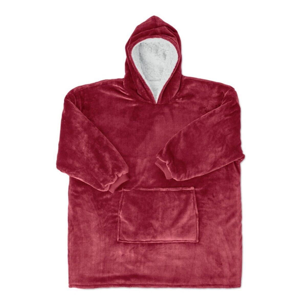 Blanket Sweatshirt in Burgundy colour