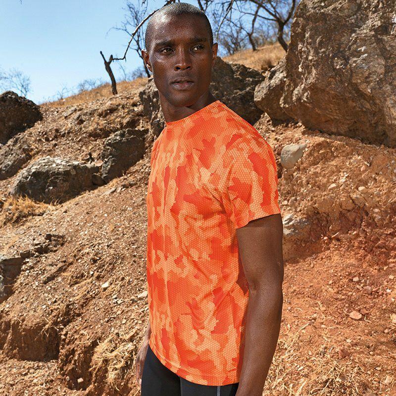 Unisex TriDri Camouflage Performance T-Shirt (Camo Orange)