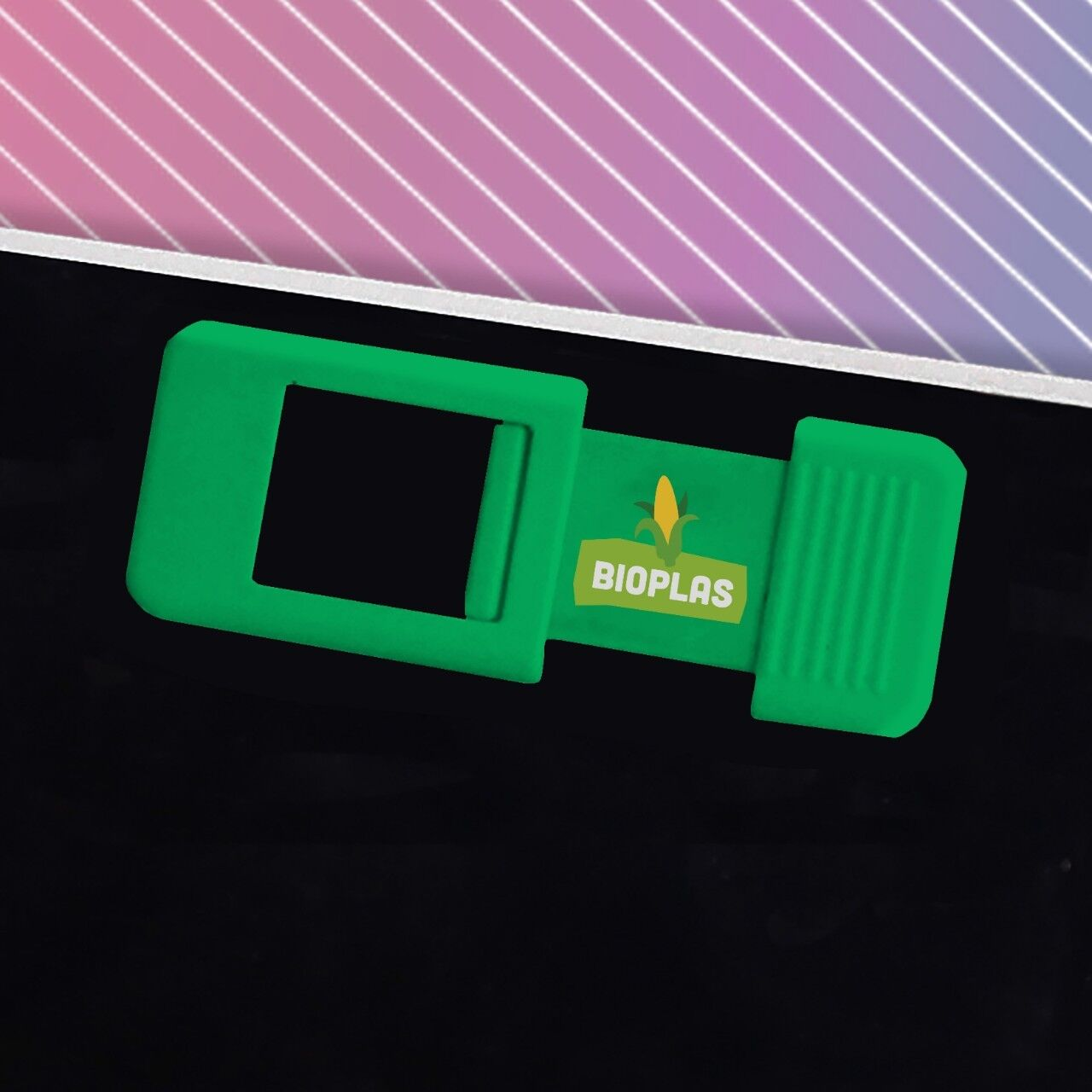 Biodegradable Webcam Cover in Green Colour