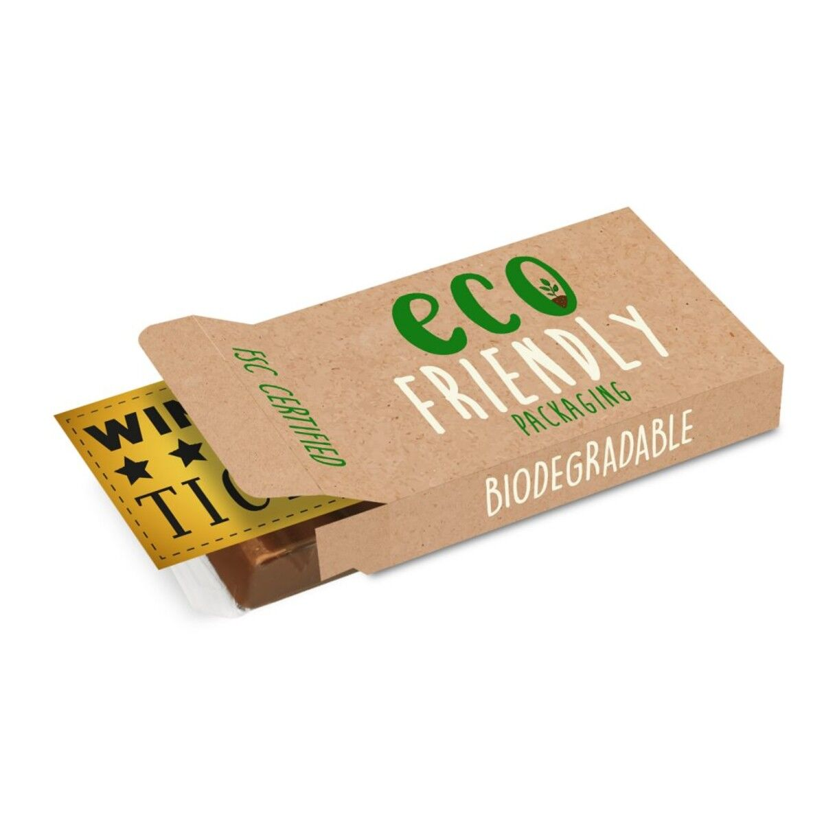 Eco Friendly 6 Bar Chocolate with golden ticket