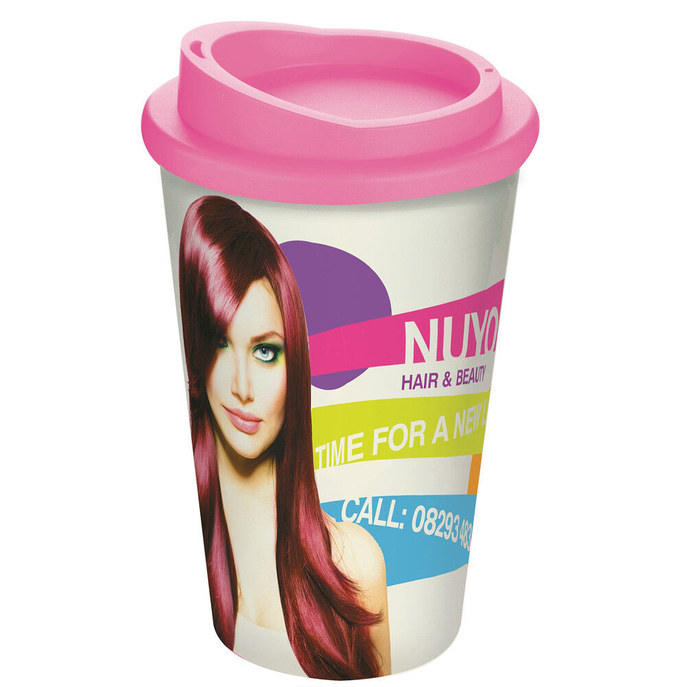 Americano Thermal Coffee Mugs with Printed Bands