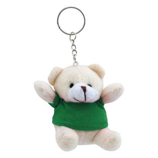 Teddy Bear Keyring - Green
