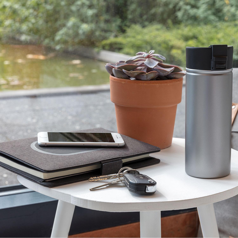 Bogota vacuum mug with ceramic coating silver