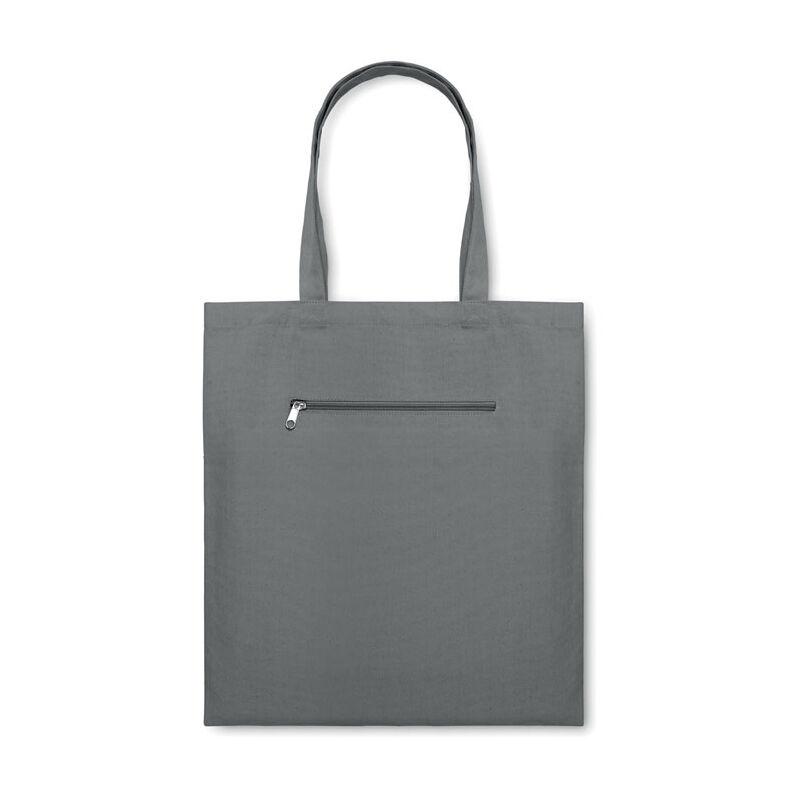 Organic Canvas Shopping Bag (Grey)