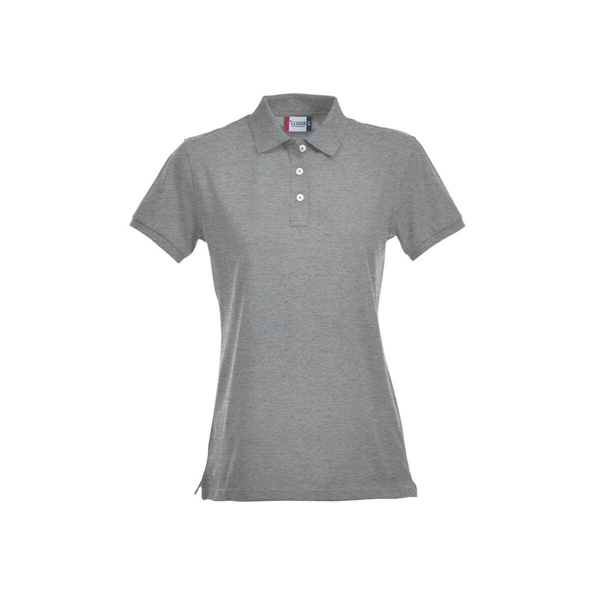 Clique Premium Polo Shirt (Ladies Grey Melange)