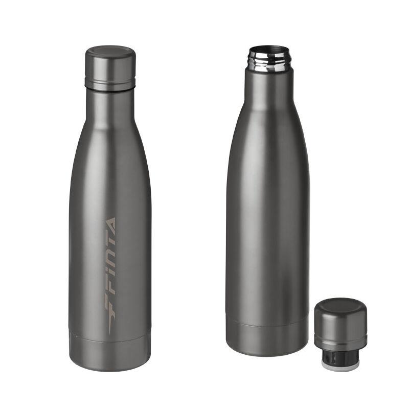 SteelVacuum Bottle copper lined Titanium