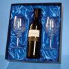 Engraved Crystal Goblets & Red Wine Set