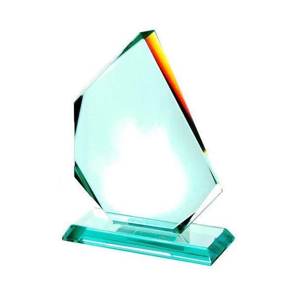 Jade Glass Flame Shaped Award
