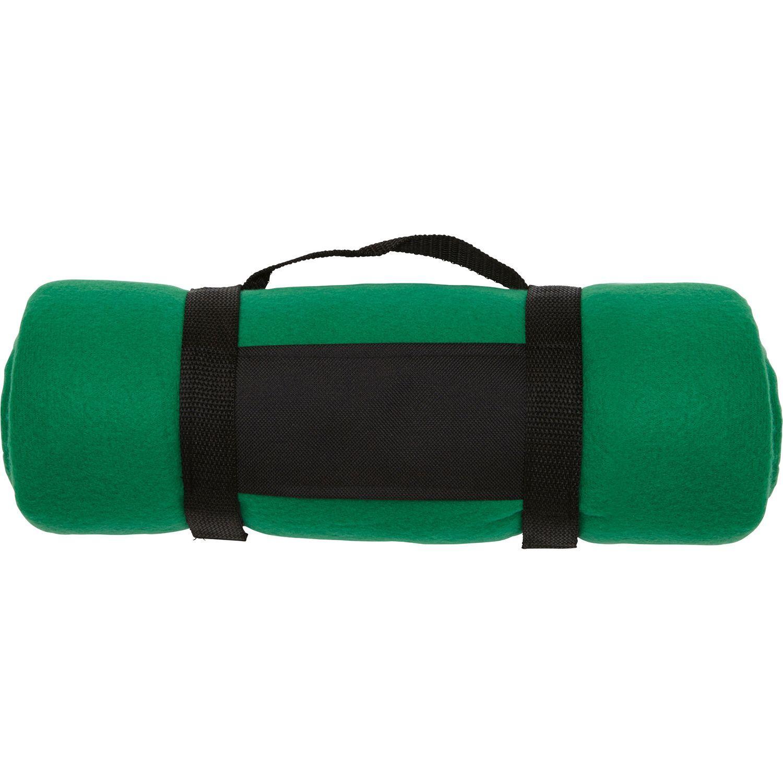 Fleece Blanket Navy Green